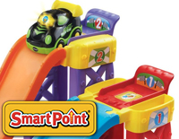 2 SmartPoint® locations interact with SmartPoint® vehicles to play fun phrases, music and sound effects