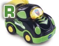 "Includes one SmartPoint® race car that teaches the letter ""R"" and the name of the vehicle through pretend play"