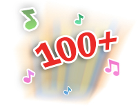 Play 100+ songs, melodies, fun phrases and sound effects