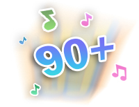 Over 90 sing-along songs, music, sounds, and fun phrases