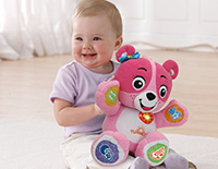 Cora makes the perfect learning companion familiarizing herself with your child's daily routine and interacting with cheerful greetings and fun phrases