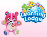 Visit VTech's Learning Lodge website to customize and teach Cora your child's name, birthday, special holidays, baby routines, and more