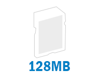 128MB internal memory stores up to 800 photos