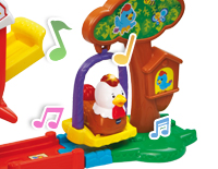 SmartPoint® rooster plays music, sounds and phrases