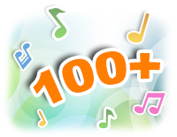100+ songs, melodies, sounds and phrases