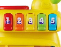 5 colorful buttons teach numbers and colors
