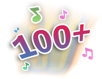 Over 100 sing-along songs, music, sound effects and fun phrases