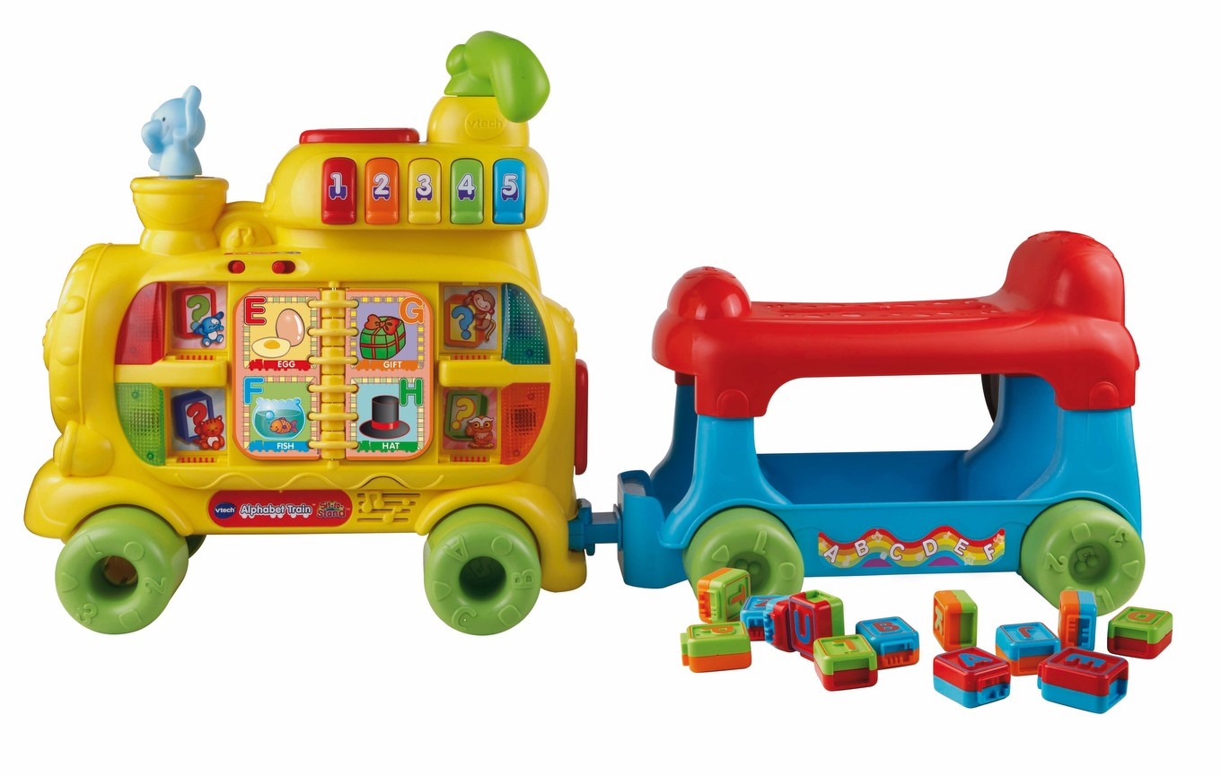 Sit To Stand Alphabet Train Learning Toy Vtechkids Com