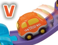 "Includes one SmartPoint™ Van that teaches the letter ""V"" and the name of the vehicle through pretend play"