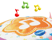 Star-shaped button introduces numbers and animals