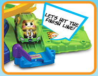 Place Rocky and other electronic Go! Go! Smart Wheels vehicles on the five SmartPoint locations to trigger fun songs and phrases. Additional vehicles sold separately.
