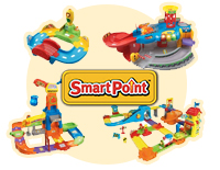 Electronic Tractor responds to over 50 SmartPoint™ locations on all Go! Go! Smart Wheels Playsets