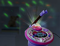 The disco light twists 180 degrees for colorful light effects.