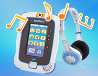 Plays videos and MP3 songs