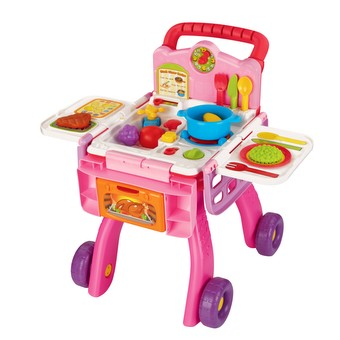 2-in-1 Shop & Cook Playset - Pink