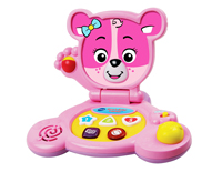 Cute laptop design features Cora The Smart Cub™