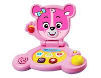 Cute laptop design features Cora The Smart Cub™