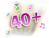 Plays 40+ sing-along songs, melodies, sounds and phrases