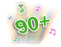 Plays 90+ sounds and phrases