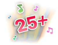 Over 25 sing-along songs, melodies,  sounds and fun phrases engage learning and play