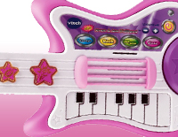 Guitar strings, whammy bar and star buttons add cool guitar sounds and fun sound effects