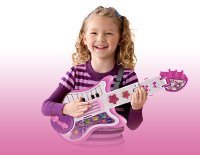 Removable guitar strap lets your child take the fun on the go