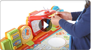 Get Ready for School Learning Desk featuring an interactive projector.