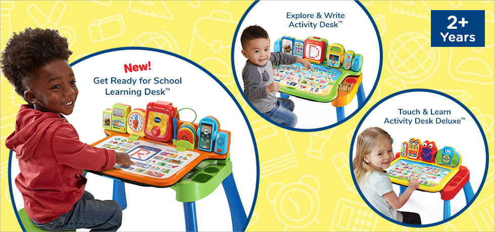New Get Ready for School Learning Desk, Explore & Write Activity Desk, Touch & Learn Activity Desk Deluxe for ages 2+ years
