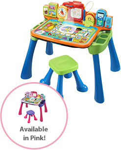 New! Get Ready for School Learning Desk. Also available in pink.