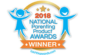 2018 NATIONAL Parenting Product Award winner. NAPPAawards.com