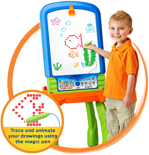 DigiArt Creative Easel. Trace and animate your drawings using the magic pen.