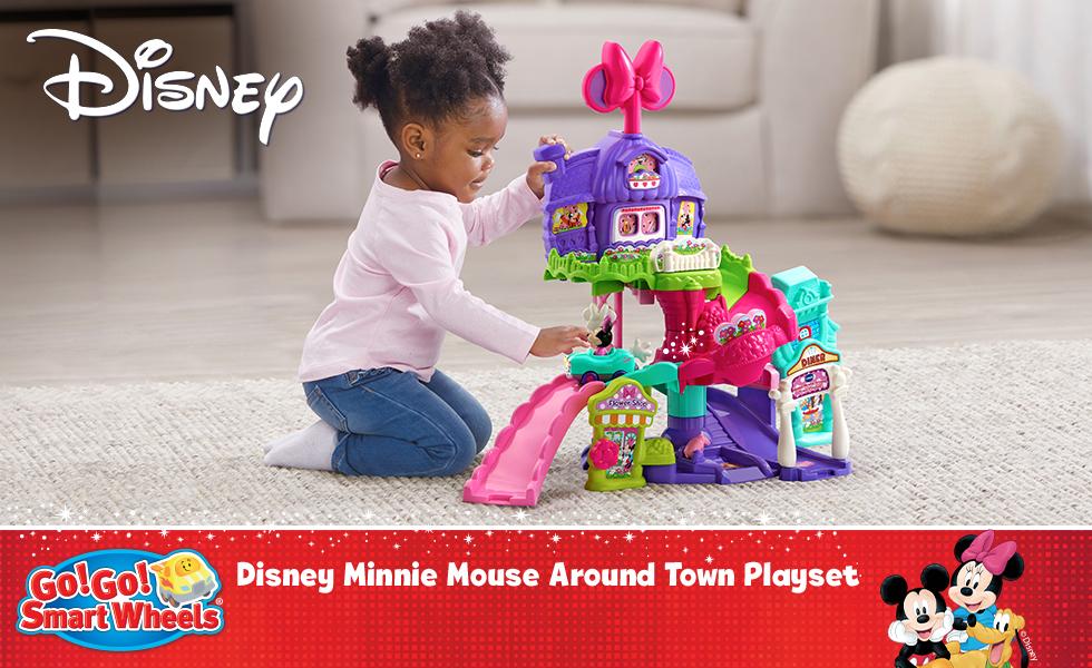 Go! Go! Smart Wheels Disney Minnie Mouse Around Town Playset, click to shop