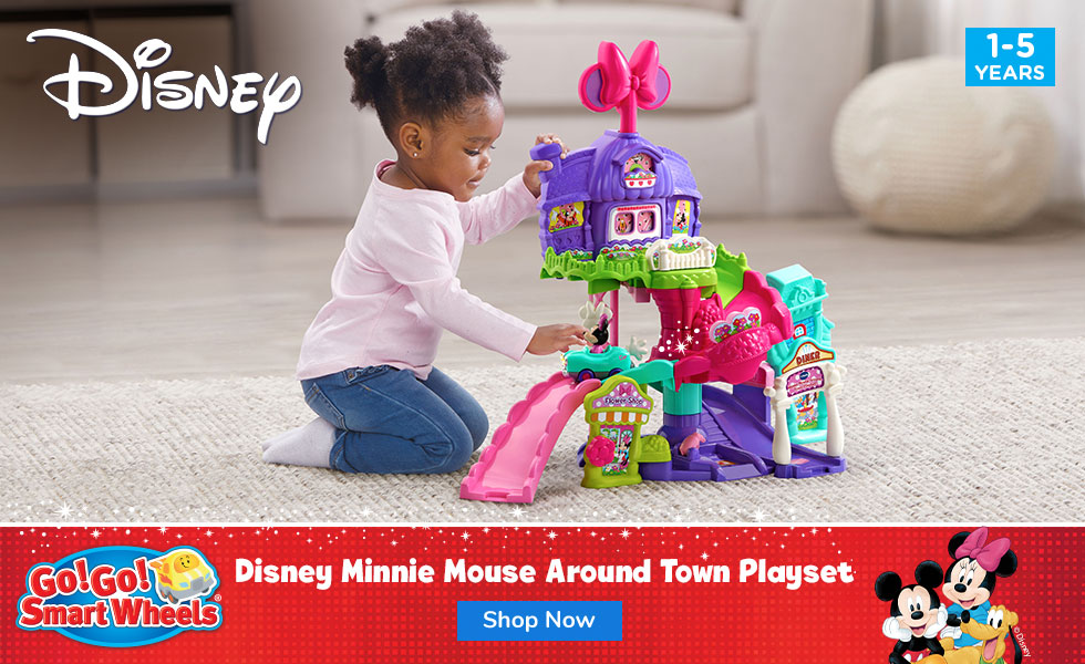 Go! Go! Smart Wheels Disney Minnie Mouse Around Town Playset - banner, click to shop - click to shop