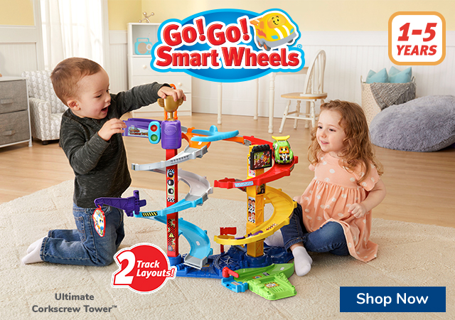 Ultimate Corkscrew Tower for ages 1-5 years old with 2 track layouts and over 3 feet tall