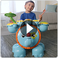 Zoo Jamz Stompin' Fun Drums™ Features