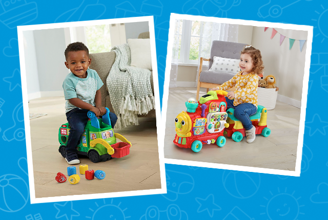VTech Explore & Write Activity Desk Deluxe, Count & Win Sports Center and Stroll & Discover Activity Walker