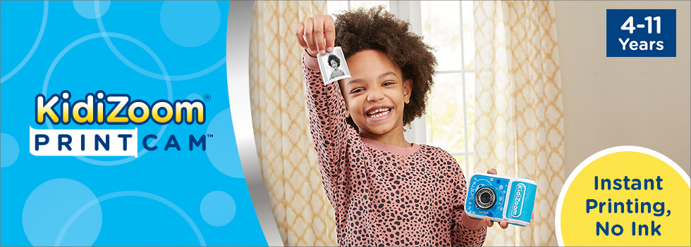 KidiZoom PrintCam for kids 4-11 years old features instant printing with no ink.
