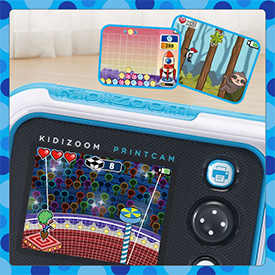 Play games included on the KidiZoom PrintCam.