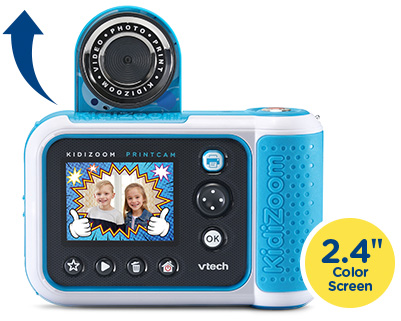"""KidiZoom PrintCam has a flip-up lens and 2.4"""" color screen."""