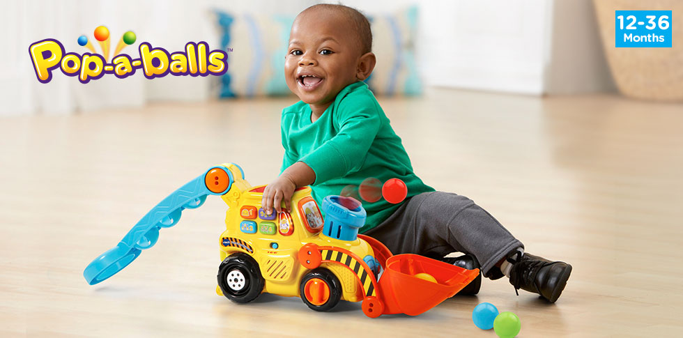 Pop-a-Balls Push & Pop Bulldozer™.(12-36 Months) - banner, click to view detail