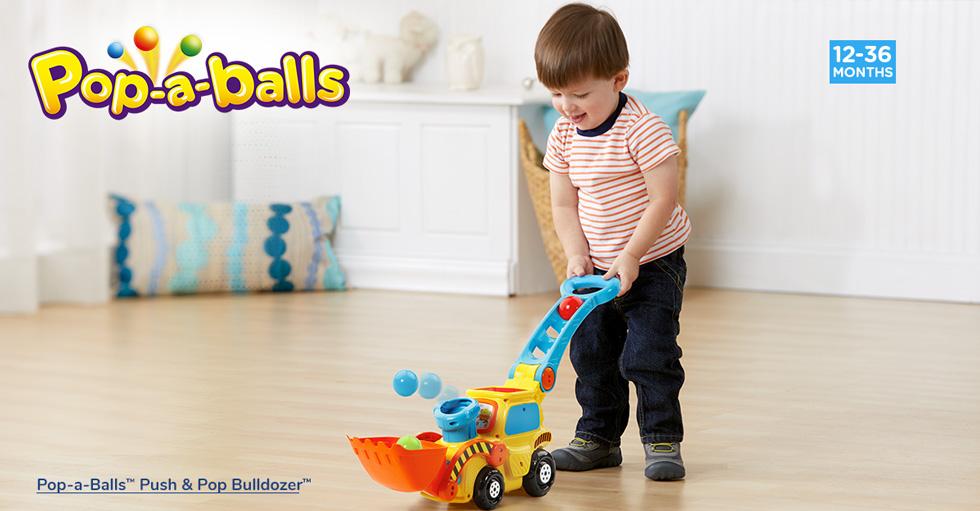 Pop-a-Balls Push & Pop Bulldozer™.(12-36 Months)