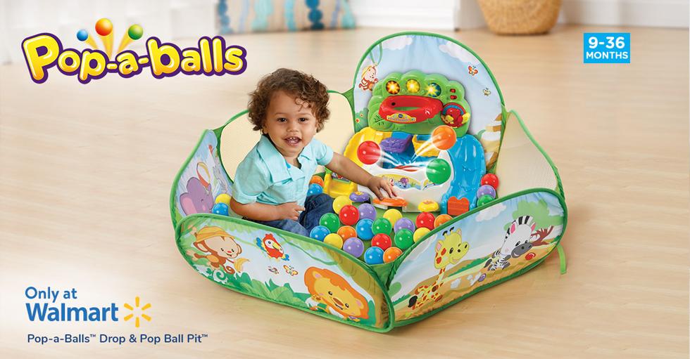Pop-a-Balls™ Drop & Pop Ball Pit™. (9-36 Months) Only at Walmart.