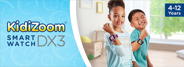 KidiZoom Smartwatch DX3 for kids ages 4 years and older.