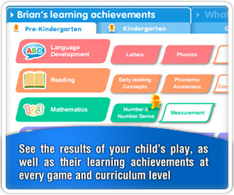 We provide a handy summary of your child's play, which provides you with a unique insight into their achievements in every game and learning curriculum.