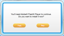 Flash installation prompt