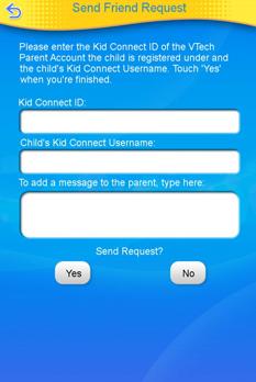 Send friend request screen