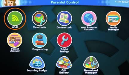 Wi-Fi icon in parental control