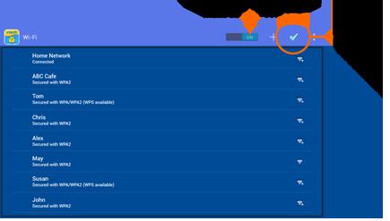Wi-Fi Setting screen capture