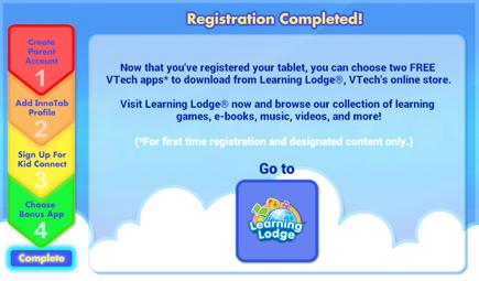 Registration Completed