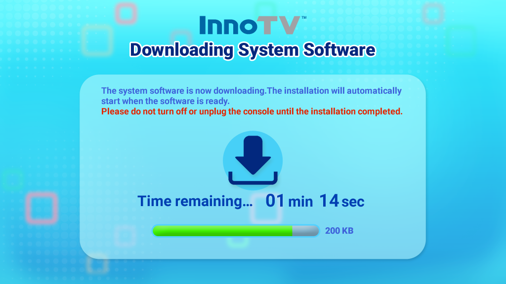 InnoTV downloading system software screen capture